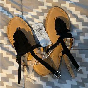 Girls Black Sandals 3/$10